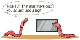 Идиома An arm and a leg